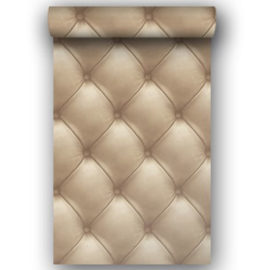 Chesterfield beige behang 3d behang  EW3002