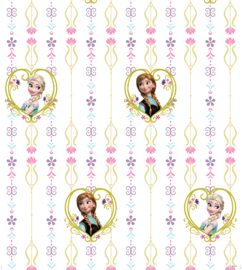 Dutch Disney Frozen Anna  & Elsa hearts behang WPD 9738