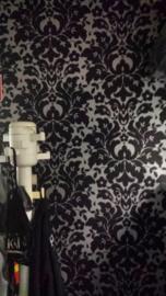 zwart barok vinyl 3d behang 6811-7