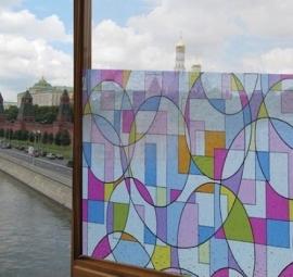 Statische raam glas in lood effect  -41