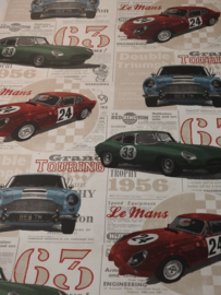 Dutch Oxford behang  21262 Road Trip Antique Cars