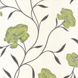 Bloemen Behang Groen Beige 8994-36