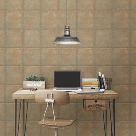 Dutch Reclaimed Geborsteld Metaal Behang FD22344