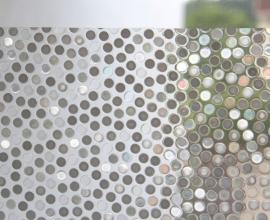 Statische raam folie rondjes retro  -48