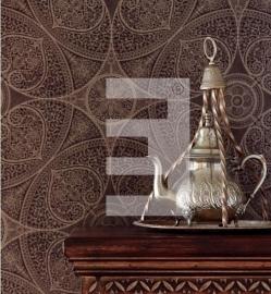 mandala´s barok chic klassiek bruin Eijffinger Yasmin behang 341754