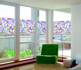 Statische raam glas in lood effect  -44