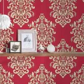 barok behang  Hermitage rood goud  341435