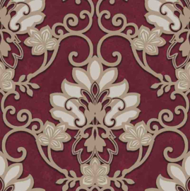 Behangexpresse Florence FR87215 Barok/Ornament/Klassiek/Bordeaux Behang