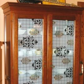 Statische raam barok groen zwart  -29
