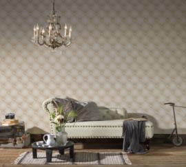 chesterfield  behang 3d  341441