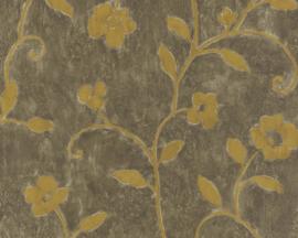 bloemen behang bruin gauod 6762-14