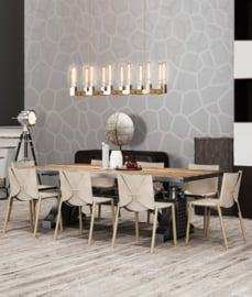 Behangexpresse Timeless Wallprint Honeycomb Grey INK 7186