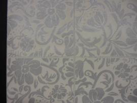 behang bloemen zilver 817607