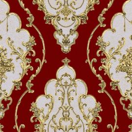 versace  Barok behang klassiek rood goud 360206