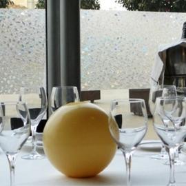 Statische raam glas in lood effect  -23