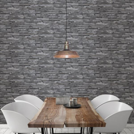 Dutch Reclaimed Stacked Slate  Behang FD22352