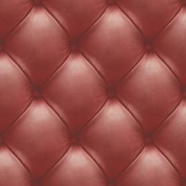 Chesterfield rood  behang 3d EW3003