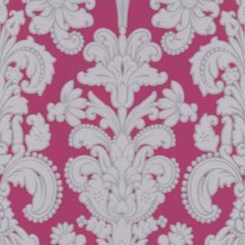 barok modern behang vinyl  roze grijs  9698-29