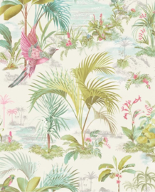 Eijffinger Pip Studio 5 behang Palm Scenes Grey 300140