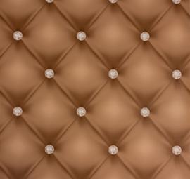 Chesterfield-Look met 3D diamanten behang 341443
