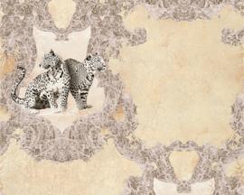 Hermitage luipaard behang bruin Metallic 335432