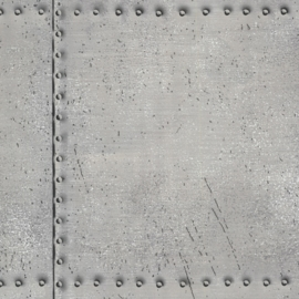 Dutch Oxford behang 2604-21252 Riveted Industrial Tile