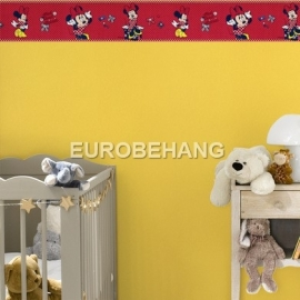 meisjes behangrand band Disney minnie mouse rood