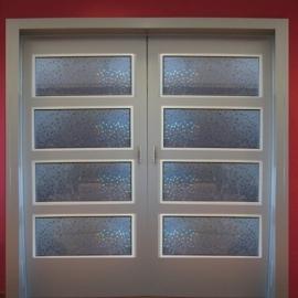 Statische raam glas in lood effect  -24