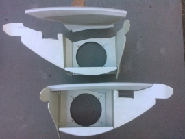 Condensor and blower housings, left & right