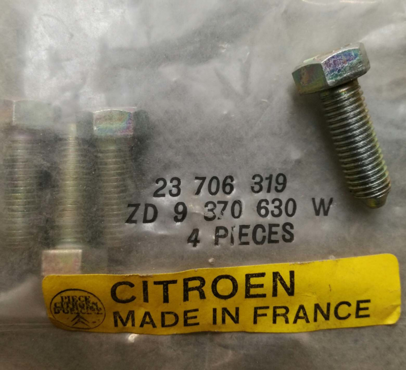 NOS set of M7 bolts