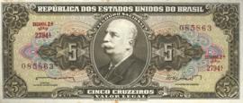 Brazilië P176.a 5 Cruzeiros (old) 1962-1964 (No Date)