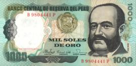 Peru P122.a 1.000 Soles de Oro 1981