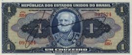 Brazilië P132.sign 2 1 Cruzeiro (old) 1944 (No date)