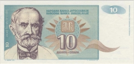 Joegoslavië P138.a 10 Dinara 1994