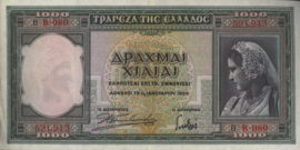 Griekenland P110 1.000 ΔΡΑΧΜΑΙ / Drachmes / Drachmai 1939