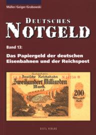 Duitsland Band 13 Das Papiergeld der deutschen Eisenbahnen und der Reichspost