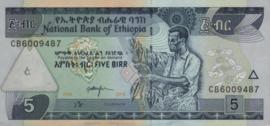 Ethiopia P47 5 Birr 1997/2015