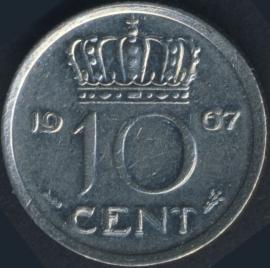 Sch. 1179 10 Cent 1967 Nikkelkleurig