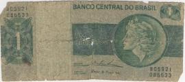 Brazilië P191.b 1 Cruzeiro No Date 1970 Poor