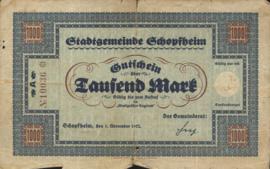 Schopfheim 4140.3 1.000 Mark 1922