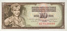 Joegoslavië P82.c 10 Dinara 1968