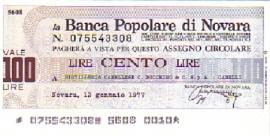 La Banca Popolare di Novara - 100 Lire