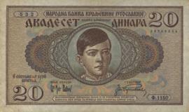 Joegoslavië P30 20 Dinara 1936