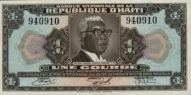 Haïti P210.b 1 Gourde 1973 (No date, L.1973)