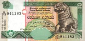 Sri Lanka P108.c 10 Rupees 2004