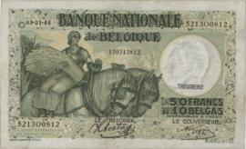 België P106 50 Francs / 10 Belgas 1935-1947