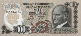 Turkije P189.b 100 Lira 1970-10-14