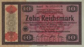 Duitsland - waardepapieren en goederencertificaten DEU-233 10 Reichsmark 1934