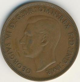 Engeland 1 PENNY 1938 KM# 845
