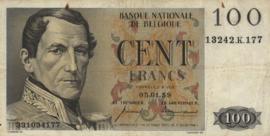 België P129 100 Francs 1952-1959